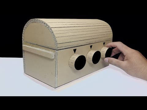 How to Make a Treasure Chest with 3 Digit Password DIY