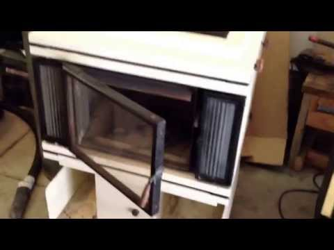 Wood burning stove with ceramic catalytic after burn system