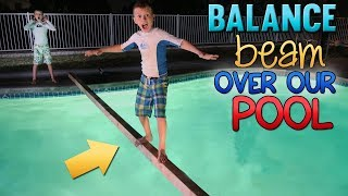Balance Beam Challenge - WHO FALLS FIRST??!!