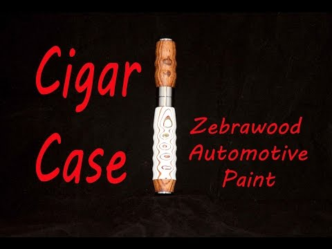 Recycled Automotive Paint Cigar Case