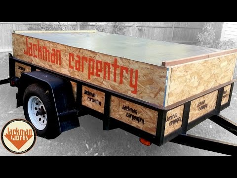 Customized Utility Trailer (Sides and Cover)
