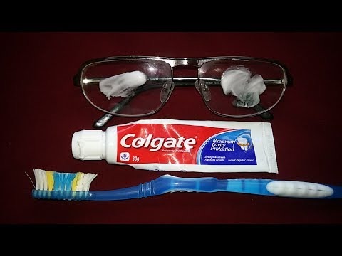 HOW TO REMOVE SCRATCHES FROM GLASSES WITH LEMONS+COLGATE