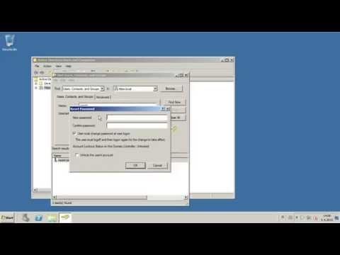 How to reset user password in Windows server 2008r2