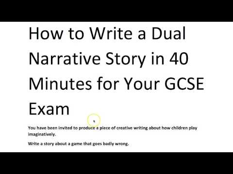 How to Write a Dual Narrative Short Story, with Grade 9 Model Answer
