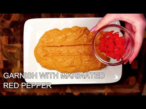Homemade Marinated Roasted Red Pepper Hummus Recipe - How To Make Red Pepper Hummus | The Food Nut