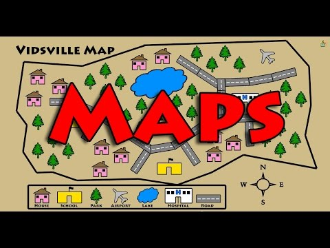 Learn About Maps - Symbols, Map Key, Compass Rose
