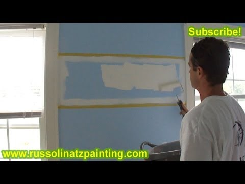 DIY Nursery Painting - Accent Wall & Horizontal Stripes (Part 7)