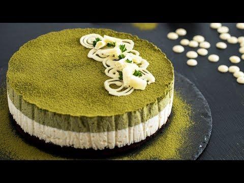 Matcha White Chocolate Mousse Cake Recipe - 4k video