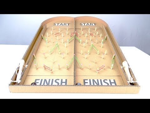 How to make Marble Race Run Game From Cardboard