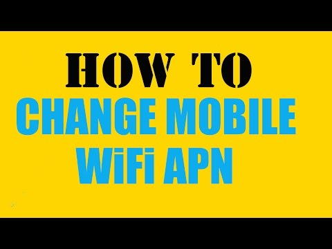 How To Change Mobile WiFi APN
