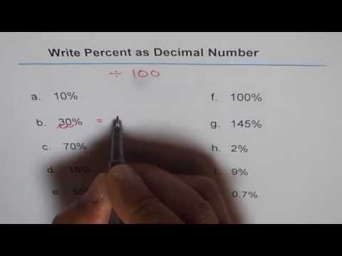 How to Change Percent to Decimal