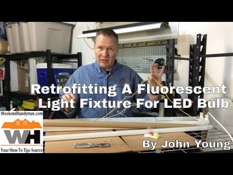 Retrofit A 4 Foot Fluorescent Light Fixture For LED Bulb | Weekend Handyman | #NaturesElectric