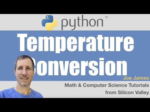 Python: Temperature Conversion - Celsius / Fahrenheit