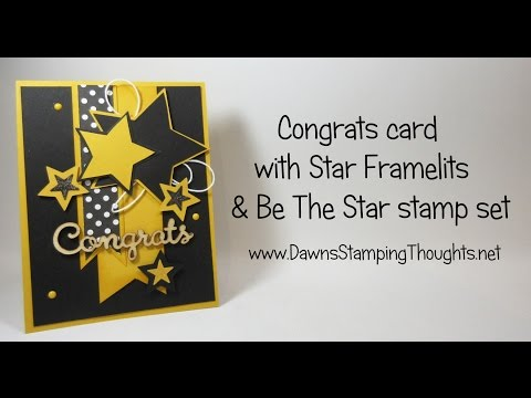 Congrats card using Star Framelits & Be The Star stamp set from Stampin'Up!