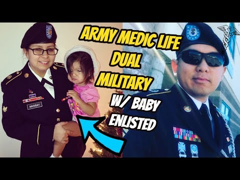 DAY IN THE LIFE OF AN ACTIVE DUTY ARMY MEDIC SOLDIER (Dual Military Couple & NEWBORN Baby)