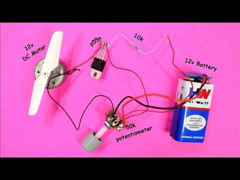 Dc Motor Speed Controller Using MOSFET | DIY Speed Control Circuit | Circuit Diagram