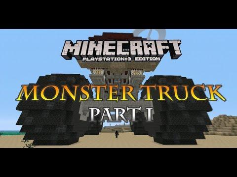 Minecraft PS3 Monster Truck Build part 1