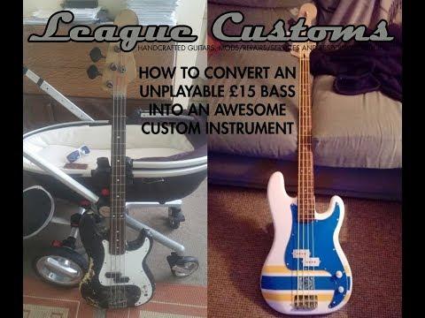 How to restore a beaten up old bass guitar into a decent P bass