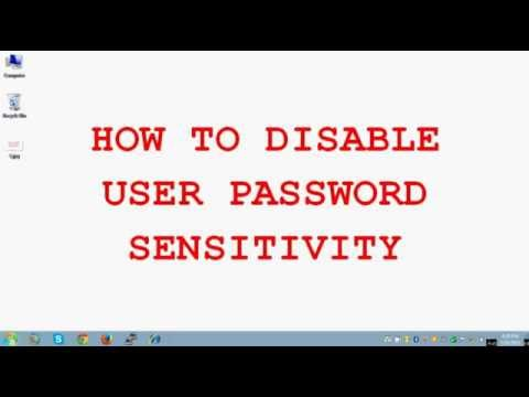 ORACLE WORLD - How to disable user password sensitivity