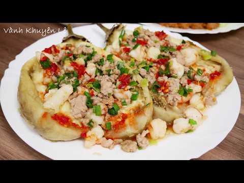 Cà Tím và Thịt xào Sả ớt - Cách làm 2 món Cà Tím sốt Tôm thịt và thịt bằm xào Sả Ớt by Vanh Khuyen