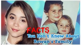 Facts You Don T Know About Rowan Blanchard S Family