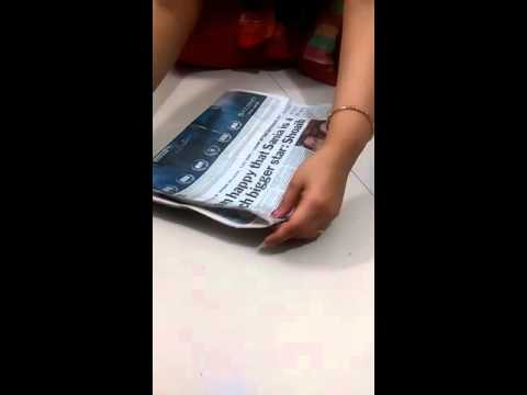 how to make news paper bag, reuse of news paper, easy way to make paper bag