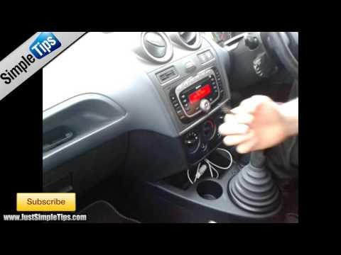 Radio Removal Ford Fiesta (2002-2009) Sony System | JustAudioTips