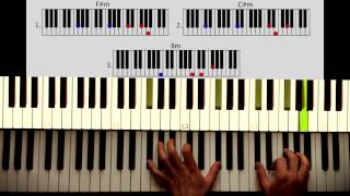 How to play: Lalala - Naughty Boy Part 1: CHORDS. Original Piano lesson. Tutorial by Piano Couture.