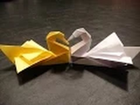 Origami swan - How to make an Origami Swan step-by-step