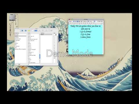 How to resize your textedit (Mac)