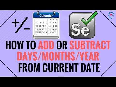 How to Add or Subtract Days Months Years in Java