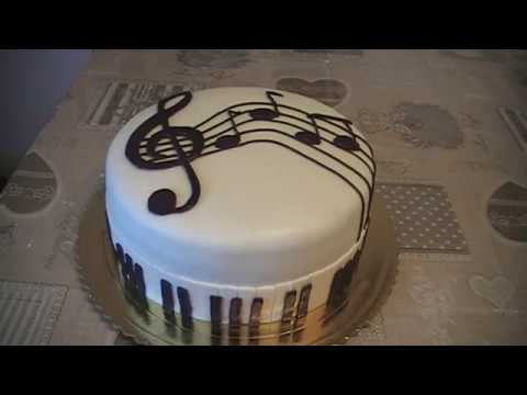 Piano Cake - Sheet music decoration Cake for musician