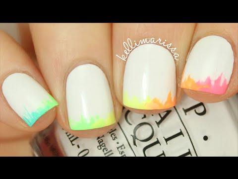 NO TOOLS NAIL ART: Easy Rainbow Ombre Tips Manicure || KELLI MARISSA
