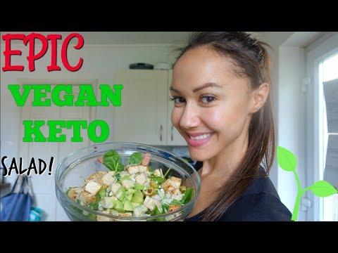 EPIC VEGAN KETO SALAD | WHAT I EAT | 10 WEEKS OUT BIKINI COMPETITION