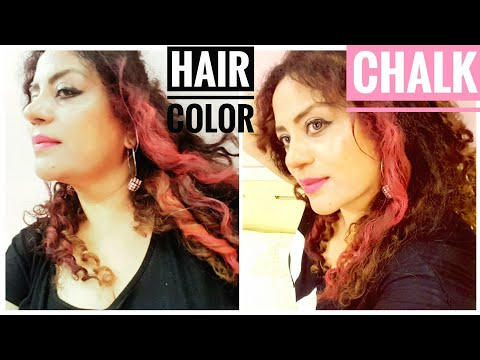 Hair Color with Chalk / Milly Moitra Vlogz.