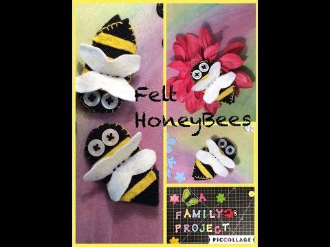 Easy DIY Felt Honey Bees How To Make Finger Puppets Other Bee Art