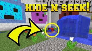 Minecraft: SUPERHERO ANIMALS HIDE AND SEEK!! - Morph Hide And Seek - Modded Mini-Game