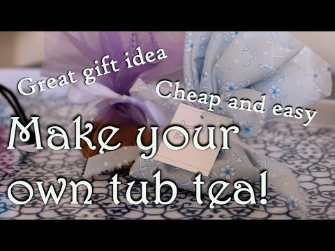 Make Your Own Bath Tea Bags || Cheap and Easy DIY || Delusional Dreams