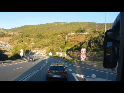 The Bus Ride From Nice International Airport to Monaco 1of2