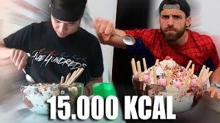 MATT STONIE vs ESTTIK | HELADO DE 15.000KCAL (BIGGEST ICE CREAM 15000KCAL)
