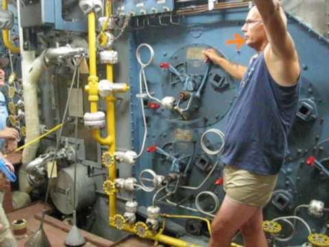Gene Bernhardt Tour 1 USS Missouri plankholder as Boiler Tech