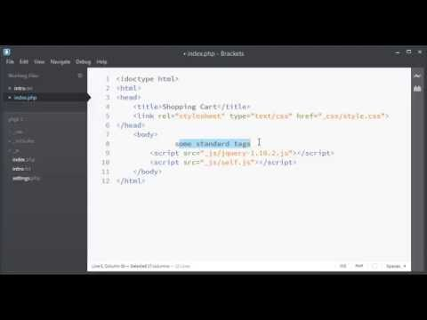 Shopping Cart List Using PHP & Javascript Part 1