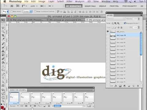 Adobe Photoshop CS5 Basic Frame by Frame Animation