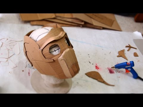 #66: Star-Lord Mask Part 1 -  Cardboard (free template) How To Dali DIY