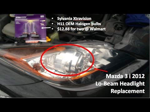 How to Replace Mazda 3 Headlights in Under 3 Minutes for $7/Bulb!