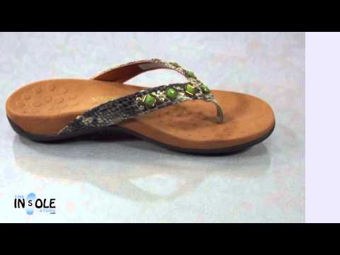 Vionic Orthaheel  Floriana Natural Snake WIDE Orthotic Sandals @TheInsoleStore.com