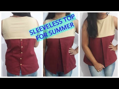 Sleeveless Top For Summers