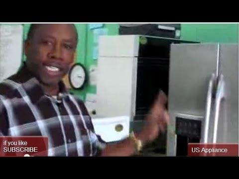 GE Profile Stainless Steel Refrigerator  |  Free Standing Side-by-Side GE Fridge
