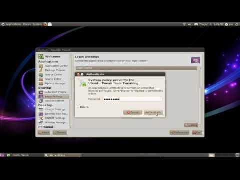 Change Login Screen (GDM2) with Ubuntu Tweak ~ Ubuntu 10.04