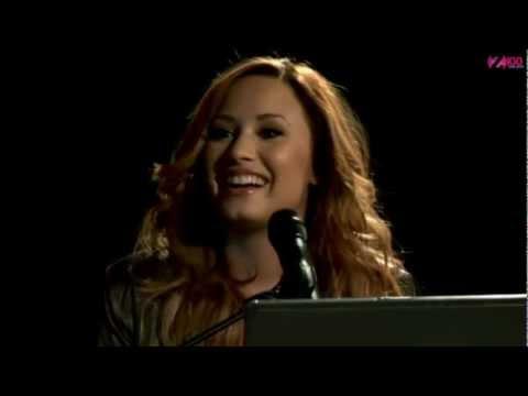 Demi Lovato talking about Greece Z100 live chat 8/3/2012